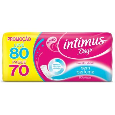 Imagem 1 do produto Protetor Diario Intimus Days 80 Unidades