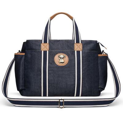 Imagem 3 do produto Bolsa Passeio para bebe + Bolsa +  Frasqueira Térmica Gold Coast + Porta Mamadeira + Trocador + Necessaire Adventure Jeans - Classic for Baby Bags