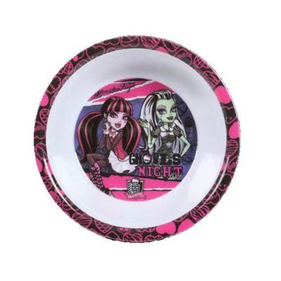 Imagem 2 do produto Kit Alimentação Monster High Contém Copos, Talher, Prato e Squeeze