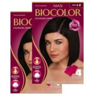 Imagem 2 do produto Tintura Biocolor Preto 1.0 com 2 unidades
