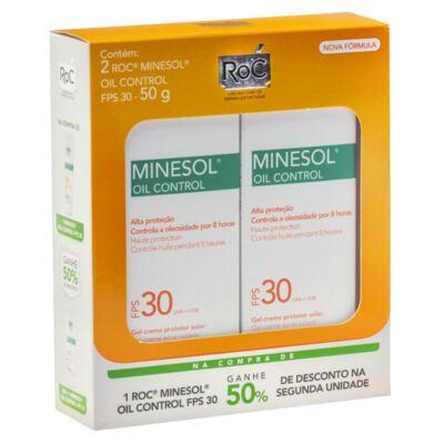 Imagem 1 do produto Roc Minesol Kit Protetor Solar Oil Control FPS30 50g 2 Unidades
