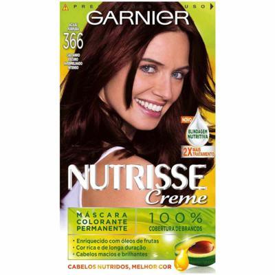 Coloração Garnier Nutrisse Creme - 366 Acaju Púrpura | 1 unidade