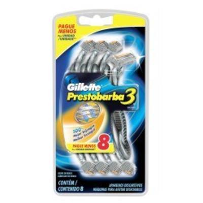 Imagem 1 do produto Aparelho de Barbear Gillette Prestobarba 3 C/ 8 Unidades