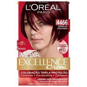 Tintura Permanente Imédia Excellence - 4466 Vermelho Profundo | 1 unidade