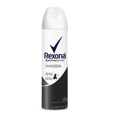 Imagem 1 do produto Desodorante Aerosol Rexona Feminino Invisible 175ml