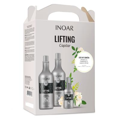 Imagem 1 do produto Inoar Lifting Capilar Kit - Shampoo + Tratamento + Leave-In - Kit