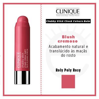 Imagem 5 do produto Chubby Stick Cheek Colours Balm Clinique - Blush - Roly Poly Rosy