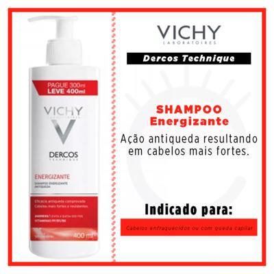 Imagem 2 do produto Dercos Shampoo Energizante Vichy - Shampoo para Enfraquecimento Capilar e Queda - 400ml