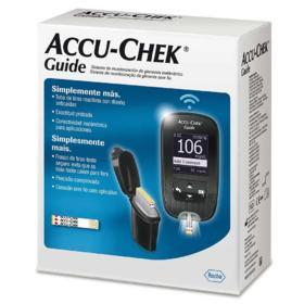 Kit Accu-Chek Guide Monitor+10 Tiras +Lancetador + 6 Lancetas -  | 1 unidade