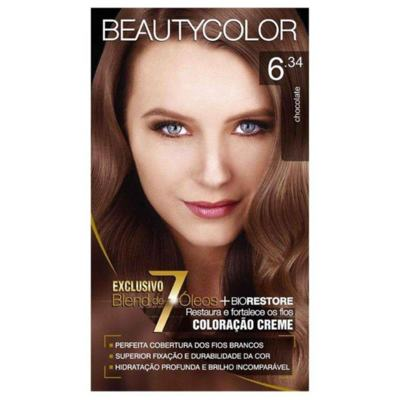 Coloração Creme Beautycolor 6.34 Chocolate