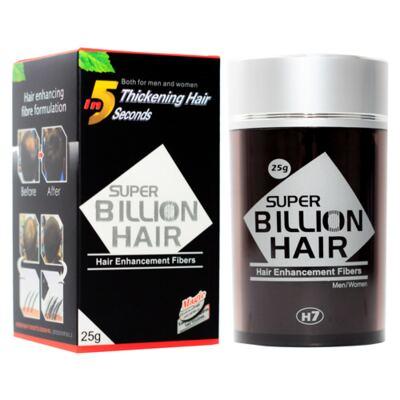 Imagem 4 do produto Super Billion Hair - Disfarce para Calvície 25g - Castanho Claro