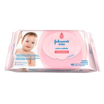 Imagem 4 do produto Toalhas Umedecidas Johnsons Baby Extra Cuidado 48 Unidades -