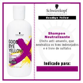 Schwarzkopf  Goodbye Yellow - Shampoo Neutralizante - 300ml