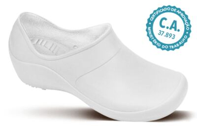 Imagem 1 do produto Sapato Profissional Feminino Mary Branco Boa Onda - 35