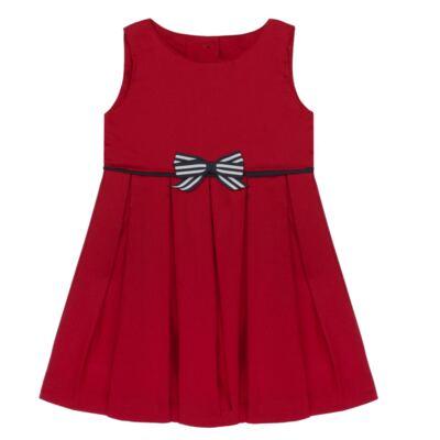 Imagem 2 do produto Vestido c/ Calcinha para bebe em fustão Scarlet - Mini Sailor - 14474263 VESTIDO C/ VIVO FUSTAO VERM ESC-0-3