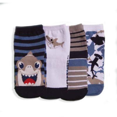 Imagem 1 do produto Kit com 4 meias Soquete recém-nascido Tubarão - Puket
