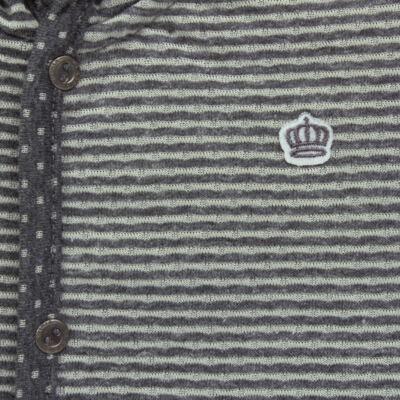 Imagem 2 do produto Casaco com capuz para bebe em malha Stripes - Mini & Classic - 75274169 CASACO DUPLA FACE MALHA-G