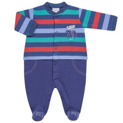 Imagem 1 do produto Macacão longo para bebe em suedine Skate - Tilly Baby - TB168401 MACACAO ML MASC SKATE-P