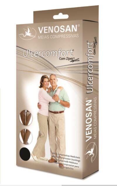 Imagem 1 do produto Meia Panturrilha Ad 40 Mmhg Ulcercomfort Venosan - Longa G