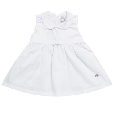 Imagem 5 do produto Vestido c/ Bolero para bebe em fustão Branco - Mini & Classic - 1425659 VESTIDO COM BOLERO TRICOLINE/BRANCO-M