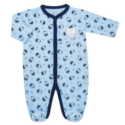 Imagem 1 do produto Macacão longo para bebe em suedine Elefantinho - Tilly Baby - TB16831.03 MACACAO ML MASC ELEFANTINHOS -P