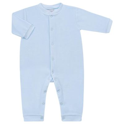 Imagem 1 do produto Macacão longo para bebe em plush Azul - Tilly Baby - TB13172.09 MACACAO BASICO DE PLUSH AZUL BEBE-M