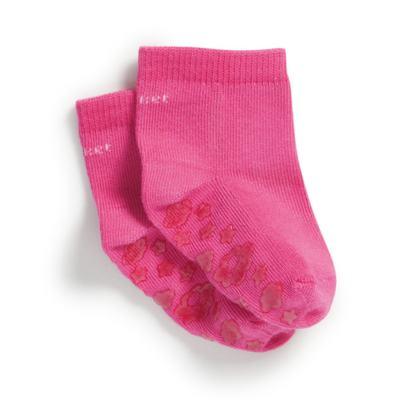 Imagem 1 do produto Meia Soquete para bebe Antiderrapante Pink - Puket