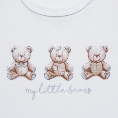 Imagem 4 do produto Pack: 02 Bodies curtos para bebe em algodão egípcio c/ jato de cerâmica Prince Bear - Mini & Classic - 1024656 PACK 2 BODIES MC SUEDINE URSO -RN