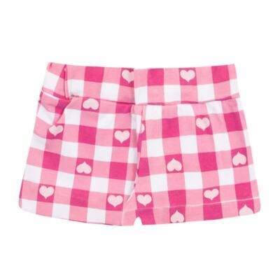 Imagem 3 do produto Body regata com Shorts balonê para bebe Peach - Time Kids - TK5054.RS CONJUNTO BODY E SHORTS XADREZ ROSA-G