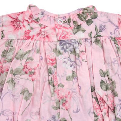 Imagem 3 do produto Macacão curto para bebe em tricoline Floral Deluxe - Roana - PIML0898046 PIMPAO LUXO ROSA -G