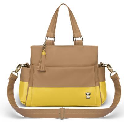 Imagem 3 do produto Mala Maternidade para bebe + Bolsa Genebra + Frasqueira Térmica Zurique + Trocador Portátil Due Colore Amarelo - Classic for Baby Bags