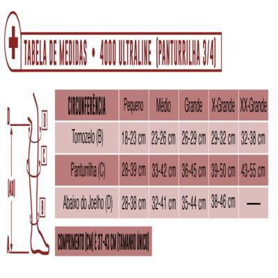 Imagem 4 do produto Meia Panturrilha AD 20-30 mmHg Ultraline 4000 Venosan - PONTEIRA ABERTA TAUPE G