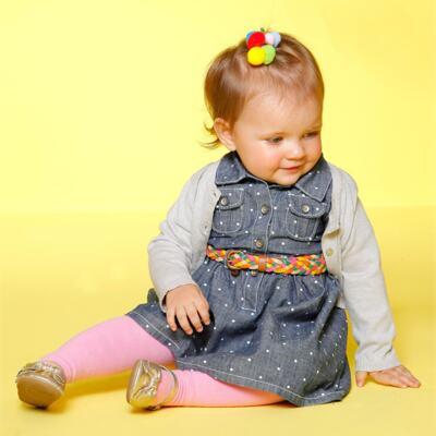 Imagem 2 do produto Meia calça para bebê em algodão Rosa - Puket