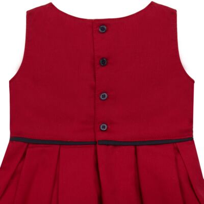 Imagem 3 do produto Vestido c/ Calcinha para bebe em fustão Scarlet - Mini Sailor - 14474263 VESTIDO C/ VIVO FUSTAO VERM ESC-9-12