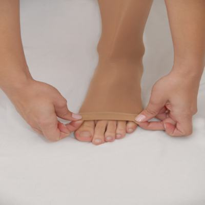 Imagem 3 do produto Meia Calça At 20-30 Comfortline Venosan - Ponteira Aberta Longa Bege P