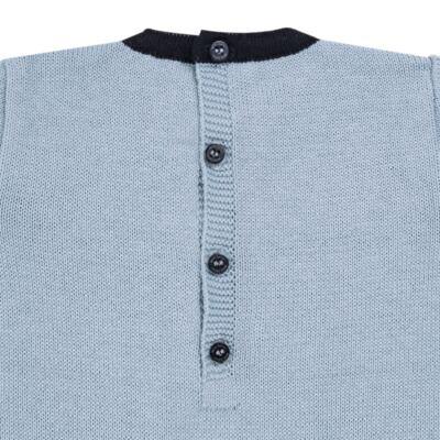 Imagem 3 do produto Macacão longo para bebe em tricot trançado Louis - Mini Sailor - 21774265 MACACAO COM TRANÇAS TRICOT AZUL BEBE-0-3