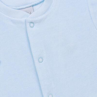 Imagem 2 do produto Macacão longo para bebe em plush Azul - Tilly Baby - TB13172.09 MACACAO BASICO DE PLUSH AZUL BEBE-G