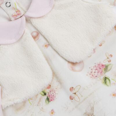 Imagem 2 do produto Macacão Colete para bebe em suedine Pearls - Bibe - 38C07-G42 MACACAO FEMININO ML -G