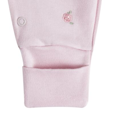 """Imagem 2 do produto Macacão longo c/ abertura """"S"""" para bebe em algodão egípcio Princess Bear - Mini & Classic - 2004655 MACACAO S C/ PE REVERSIVEL SUEDINE URSA-RN"""
