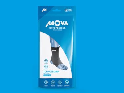 Imagem 2 do produto Tornozeleira Elástica Mova - Preta M