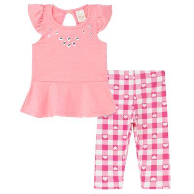 Imagem 1 do produto Bata c/ Legging para bebe Peach - Time Kids
