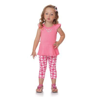 Imagem 4 do produto Bata c/ Legging para bebe Peach - Time Kids