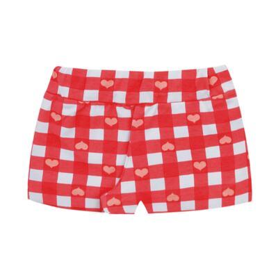 Imagem 3 do produto Body regata com shorts balonê para bebe Cherry - Time Kids - TK5054.BC CONJUNTO BODY E SHORTS XADREZ BRANCO-G