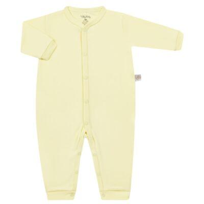 Imagem 1 do produto Macacão longo para bebe em suedine Amarelo - Tilly Baby - TB13113.07 MACACAO BASICO DE SUEDINE AMARELO-GG