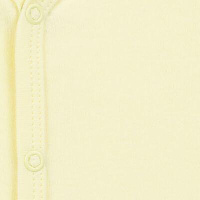 Imagem 2 do produto Macacão longo para bebe em suedine Amarelo - Tilly Baby - TB13113.07 MACACAO BASICO DE SUEDINE AMARELO-GG