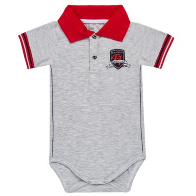Imagem 1 do produto Body polo para bebe em cotton Race - Mini & Classic - BDBP668 BODY POLO AVULSO COTTON GRAND PRIX-P