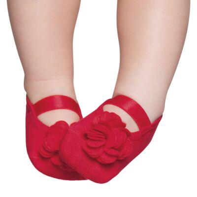 Imagem 1 do produto Meia Sapatilha para bebe Flor Vermelha - Puket