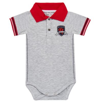 Imagem 1 do produto Body polo para bebe em cotton Race - Mini & Classic - BDBP668 BODY POLO AVULSO COTTON GRAND PRIX-GG