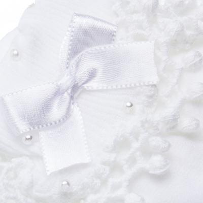Imagem 2 do produto Meia para bebe Renda Laço & Pérolas Branca - Roana - 15830004001 Meia Bordada branco-G