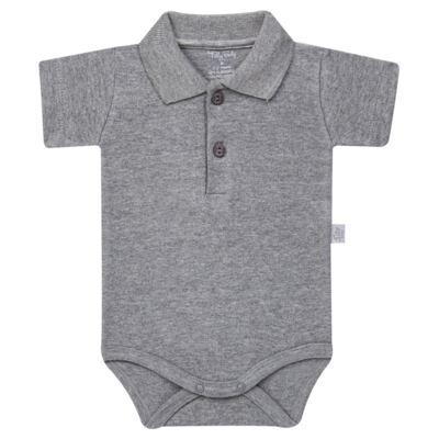 Imagem 1 do produto Body Polo curto para bebe em suedine Mescla - Tilly Baby - TB13120.06 BODY POLO MC SUEDINE MESCLA-G